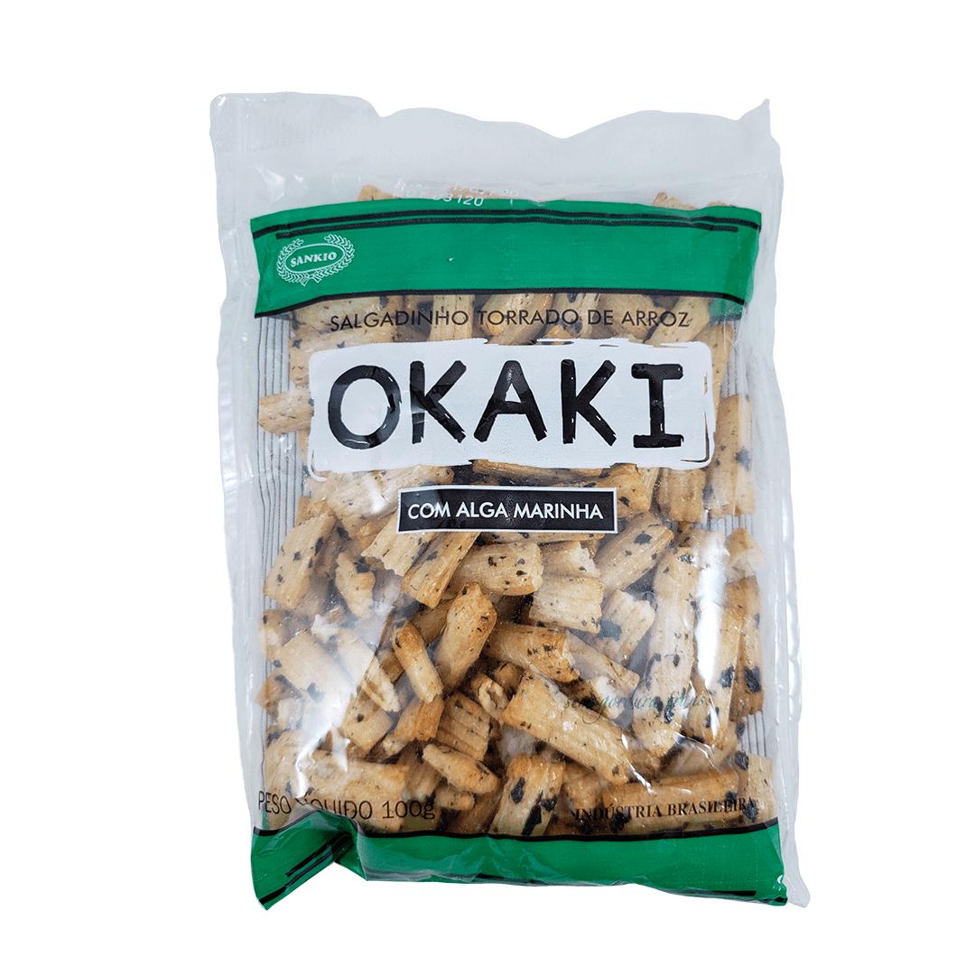 Okaki Biscoito de Arroz com Algas Marinhas Sankio 100g