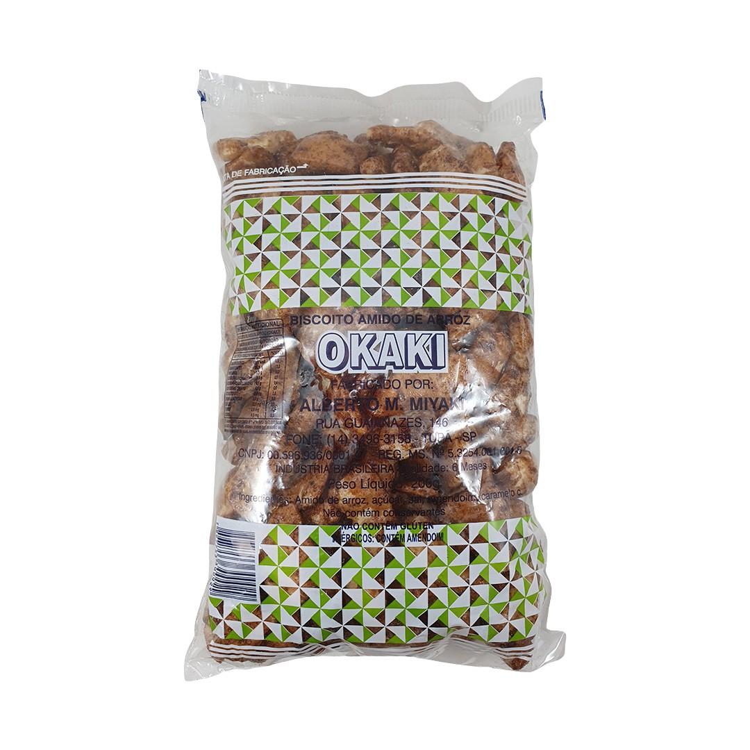 Okaki Biscoito de Arroz Miyaki (Pacote Verde) 200g