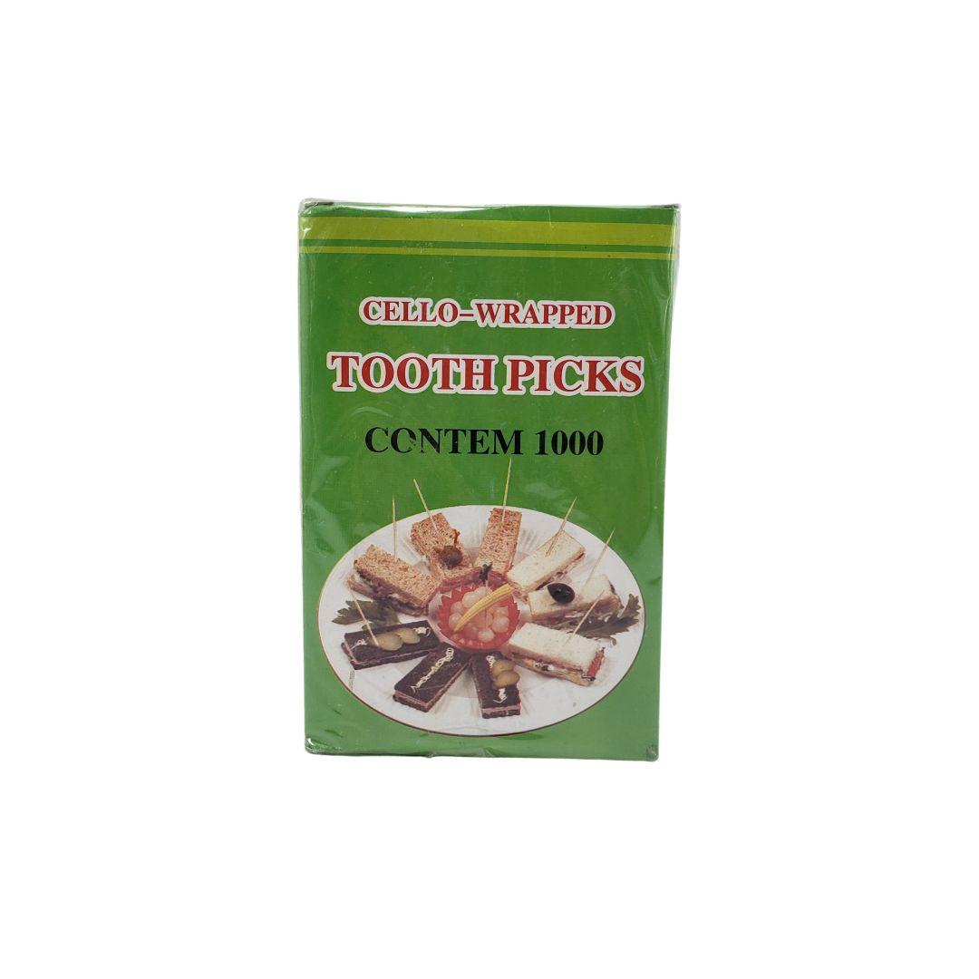 Palitos de Dente Decorados de Madeira Shiki 1000 Unidades