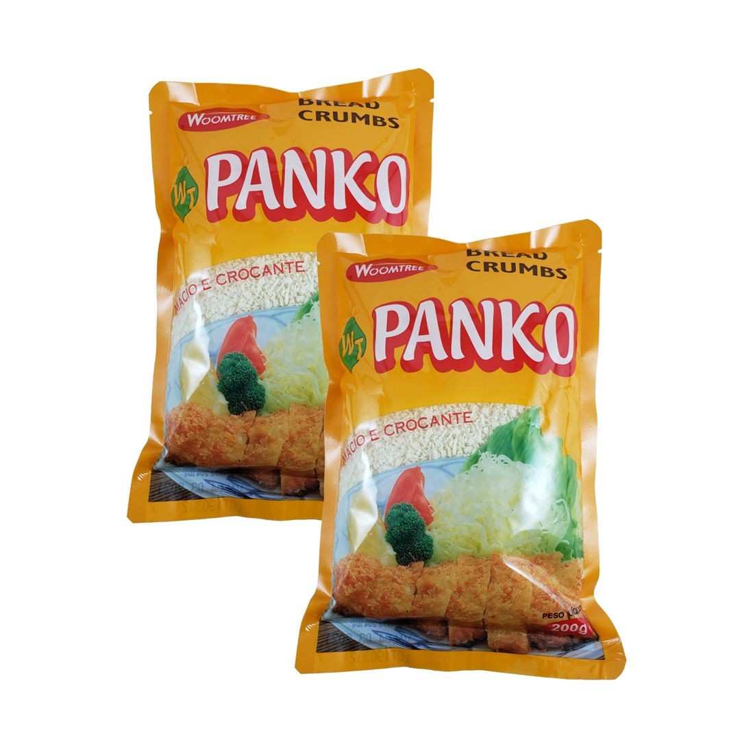 Panko Farinha para Empanar Bread Crumbs Woomtree 200g Kit 2 un