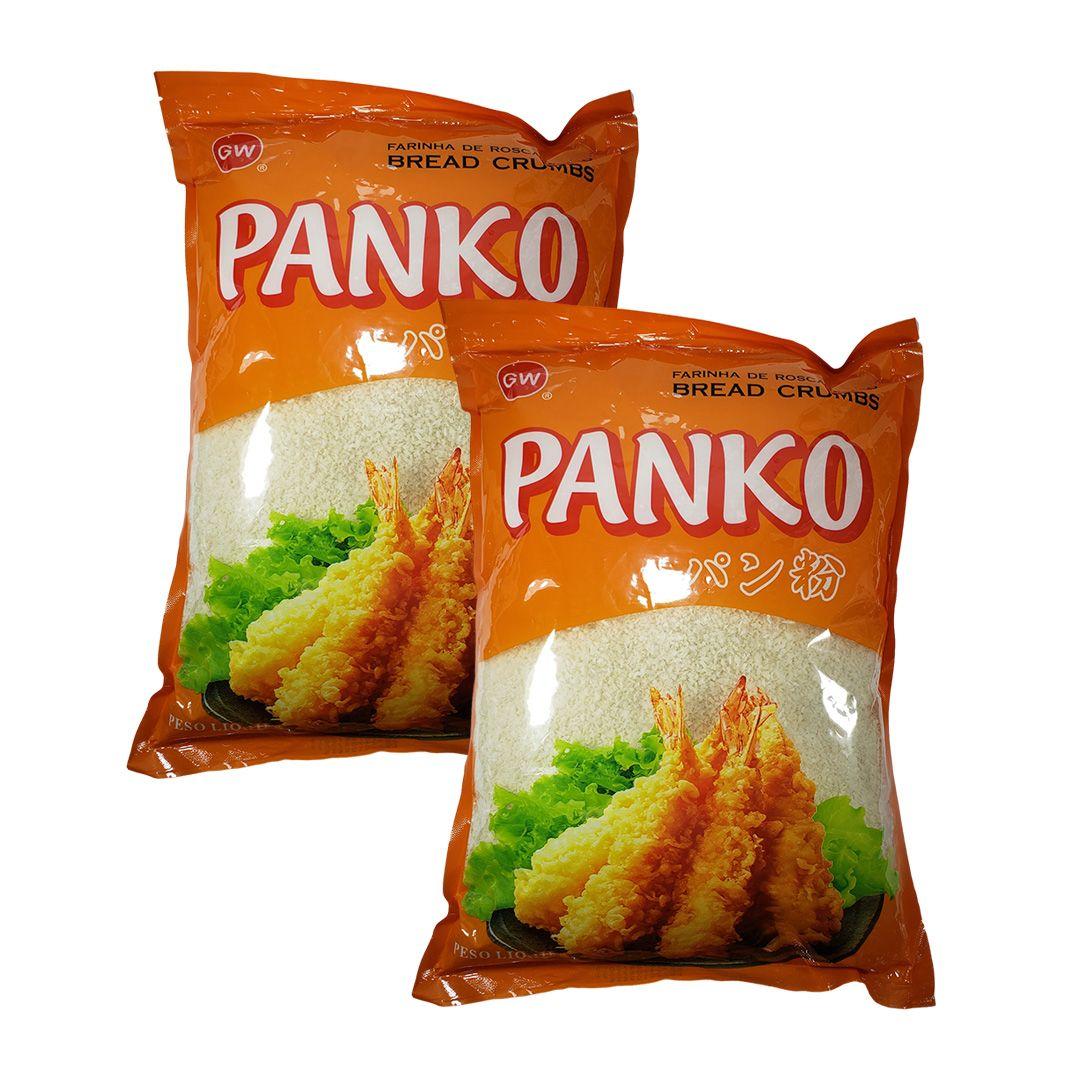 Panko Farinha para Empanar GW 1Kg Kit 2 un