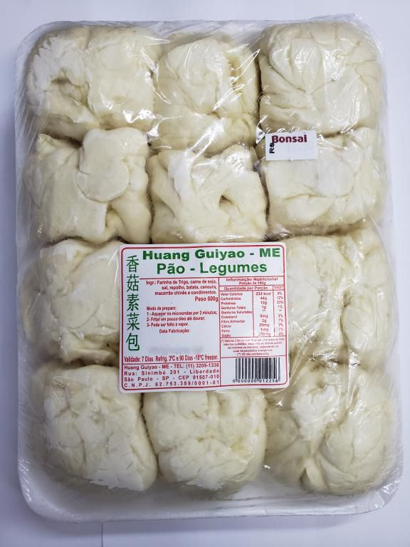 Pão Chinês Nikuman com recheio de Legumes