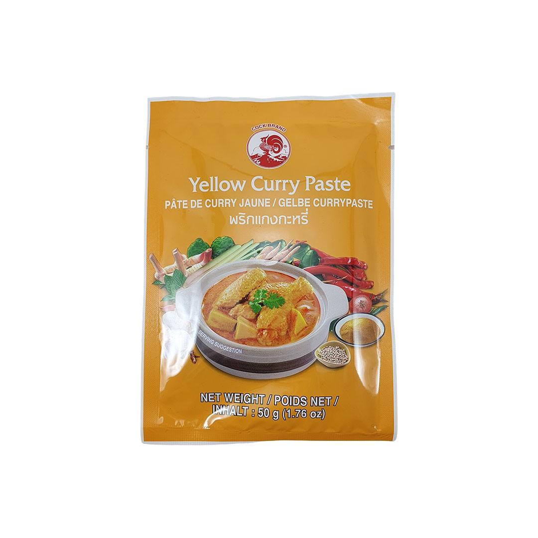Pasta de Curry Amarelo Tailandês Yellow Curry Paste Cock Brand 50g