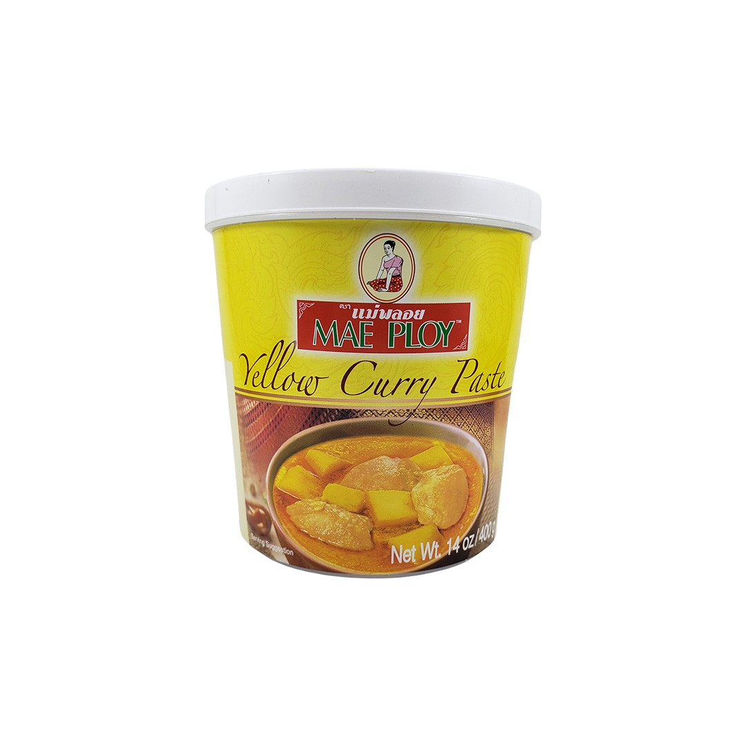 Pasta de Curry Amarelo Tailandês Yellow Curry Paste Mae Ploy 400g