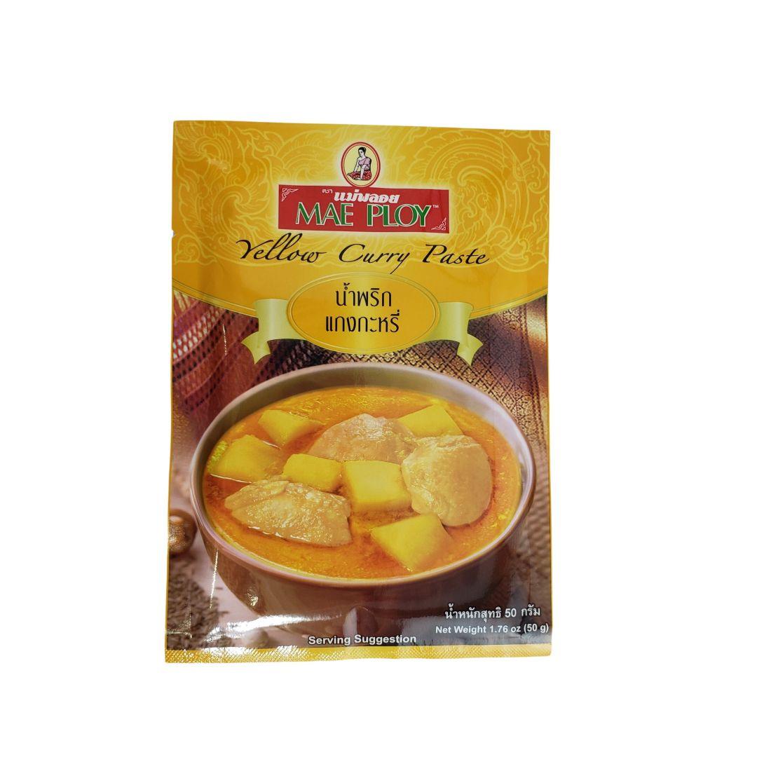 Pasta de Curry Amarelo Tailandês Yellow Curry Paste Mae Ploy 50g