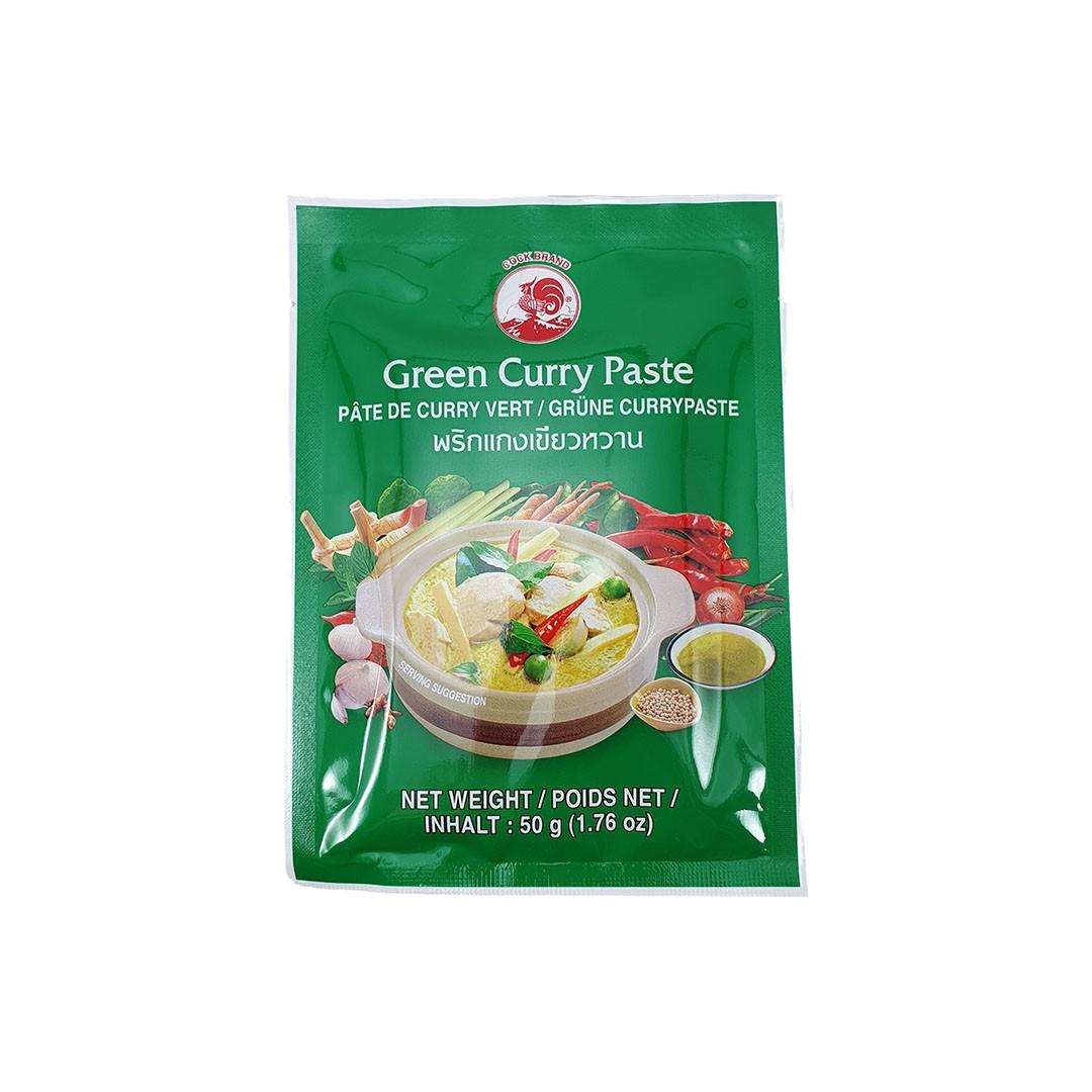 Pasta de Curry Verde Tailandês Green Curry Paste Cock Brand 50g