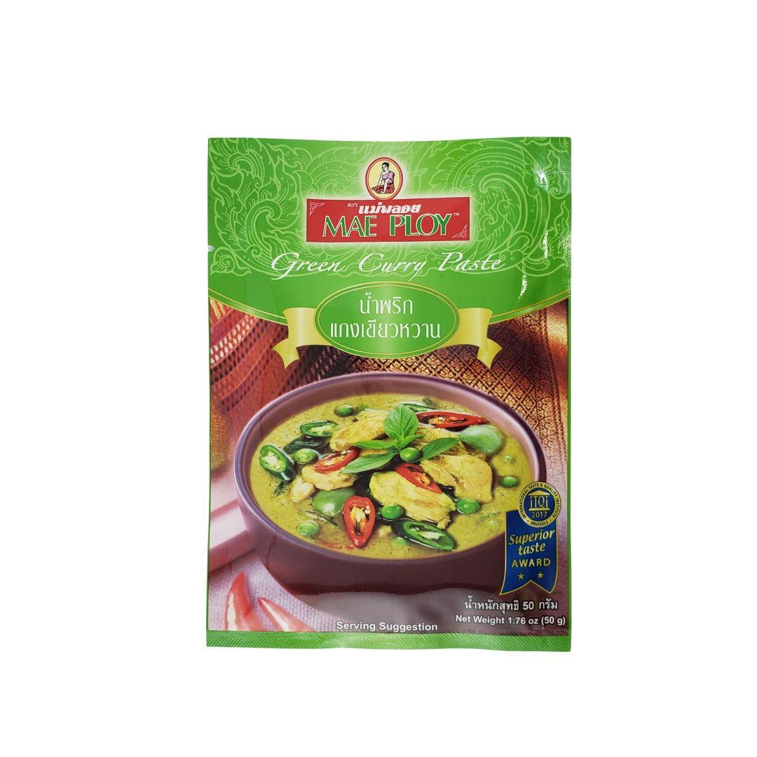 Pasta de Curry Verde Tailandês Green Curry Paste Mae Ploy 50g