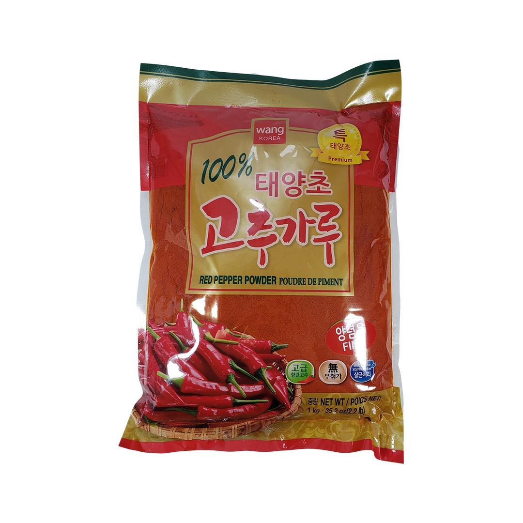 Pimenta Vermelha Coreana Gochugaru em Pó Fino Wang Premium 1Kg