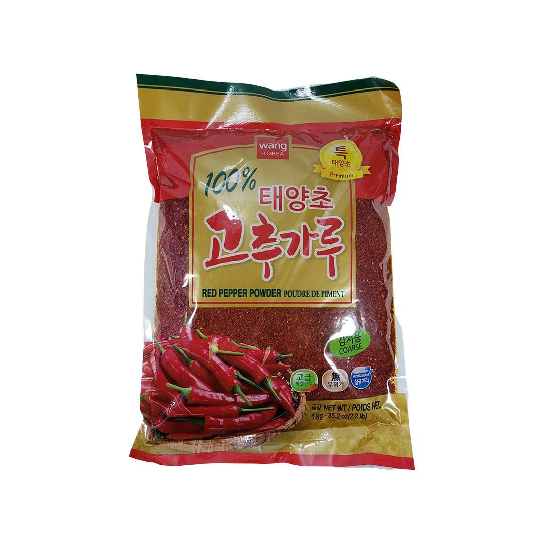 Pimenta Vermelha Coreana Gochugaru em Pó Grosso Wang Premium 1Kg