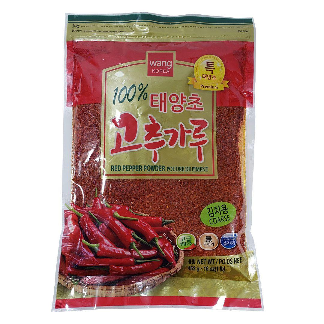 Pimenta Vermelha Coreana Gochugaru em Pó Grosso Wang Premium 453g