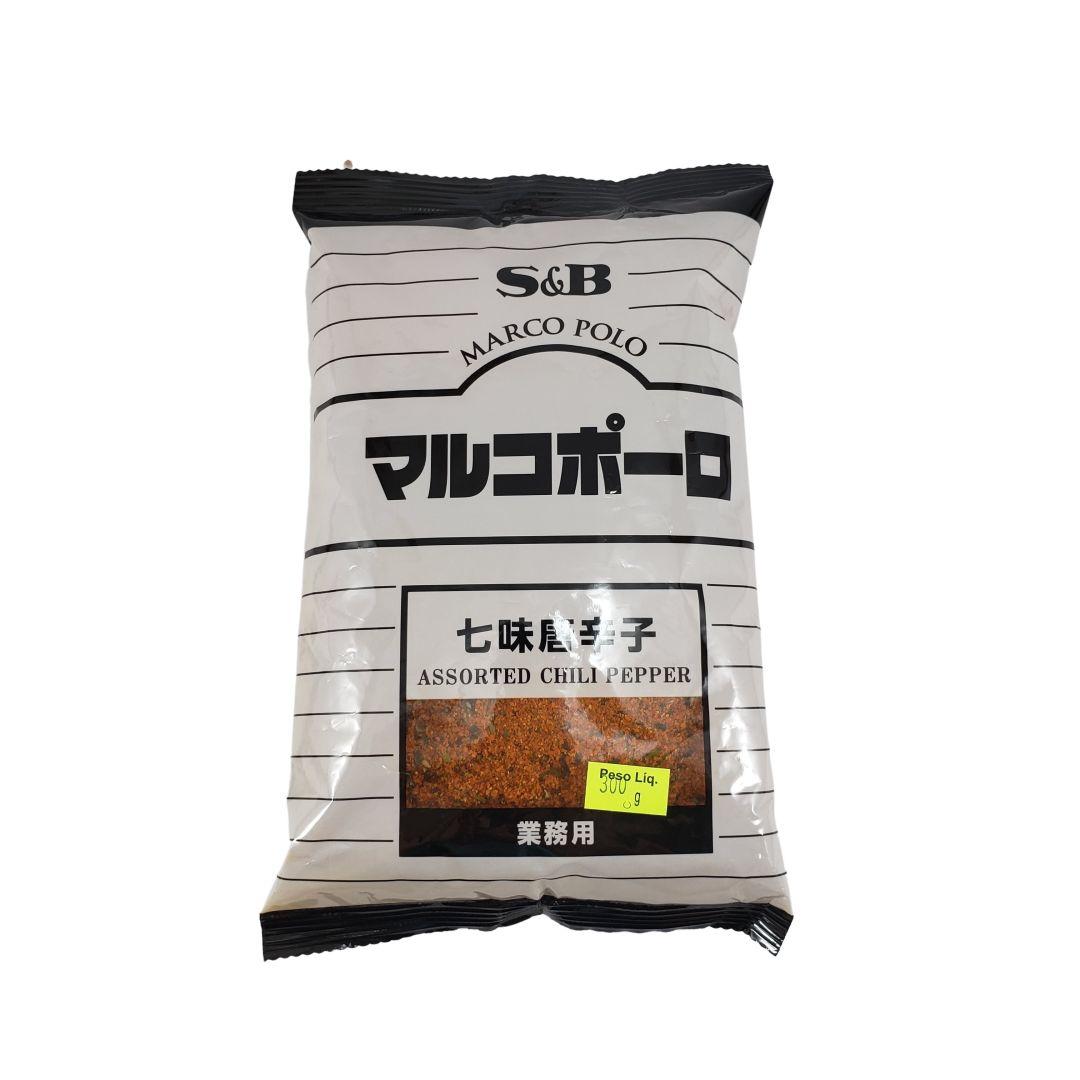 Pimenta Vermelha em Pó Japonesa Chili Pepper ShIchimi Togarashi S&B 300g