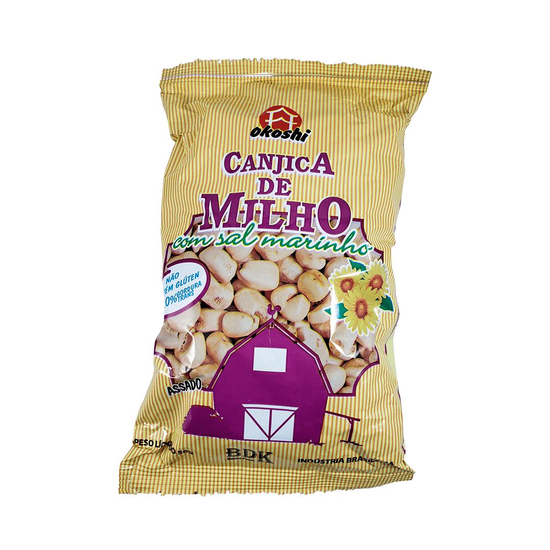Pipoca Canjica de Milho com Sal Marinho Okoshi 50g