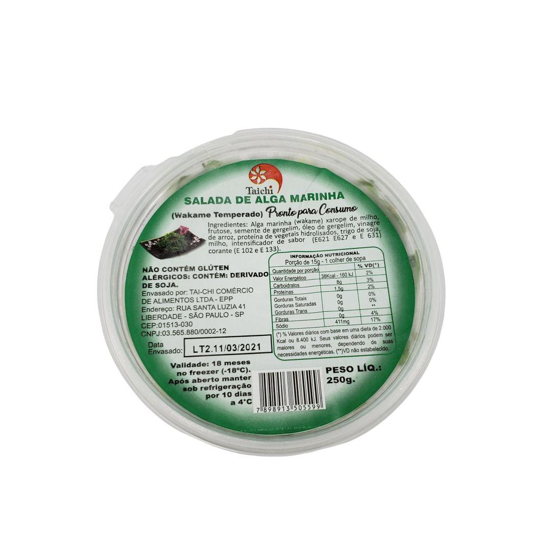 Salada de Alga Marinha Wakame Temperada Congelada Taichi 250g