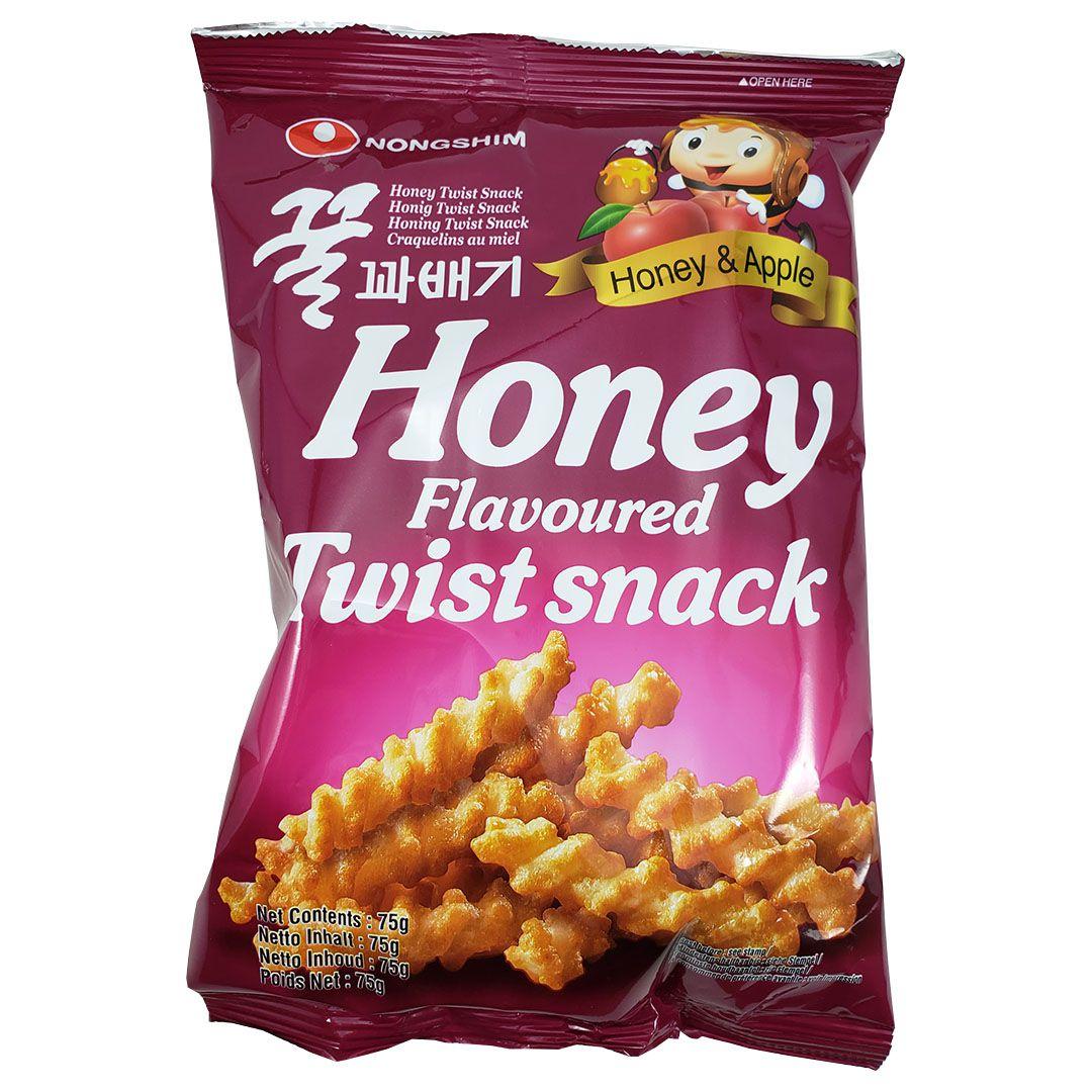 Salgadinho Coreano Palitos de Mel Honey Flavoured Twist Snack 75g