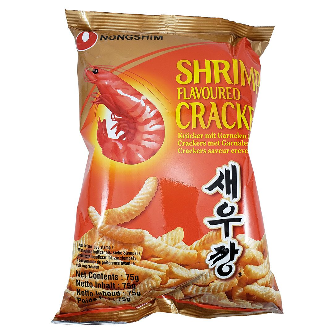 Salgadinho Coreano sabor Camarão Shrimp Flavoured Cracker 75g