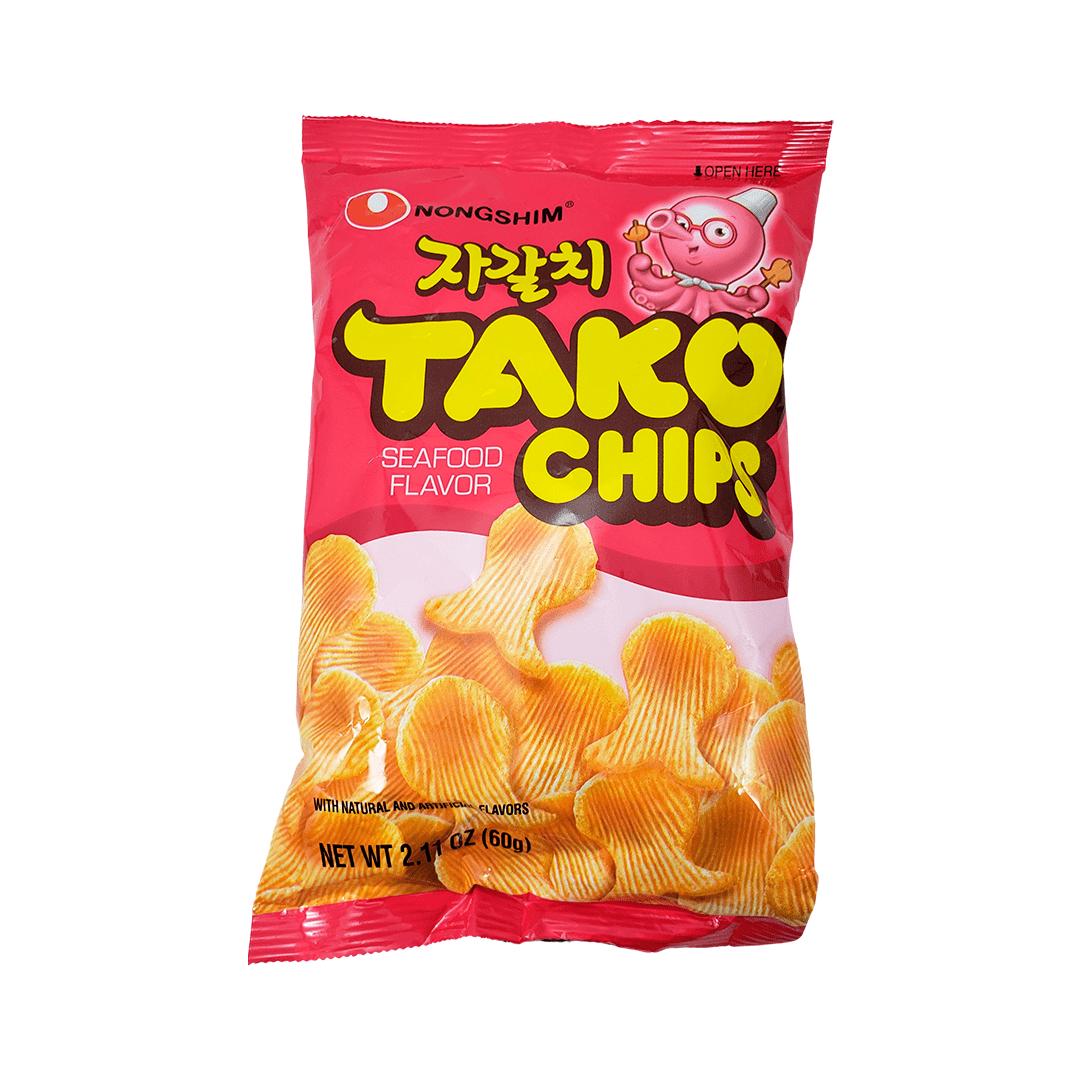 Salgadinho Coreano sabor Polvo Tako Chips 60g