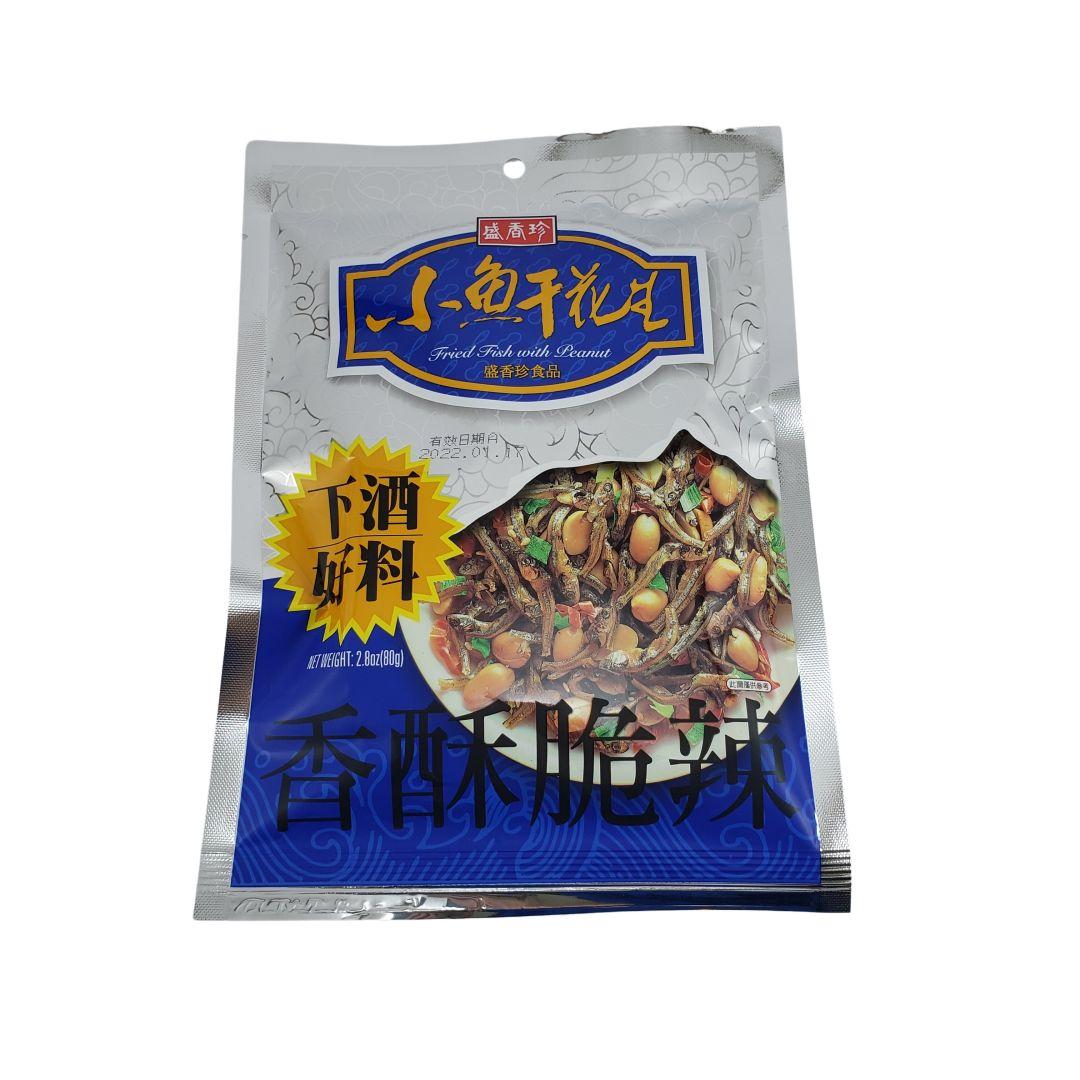 Salgadinho de Peixinho Seco com Amendoim Triko Foods 80g