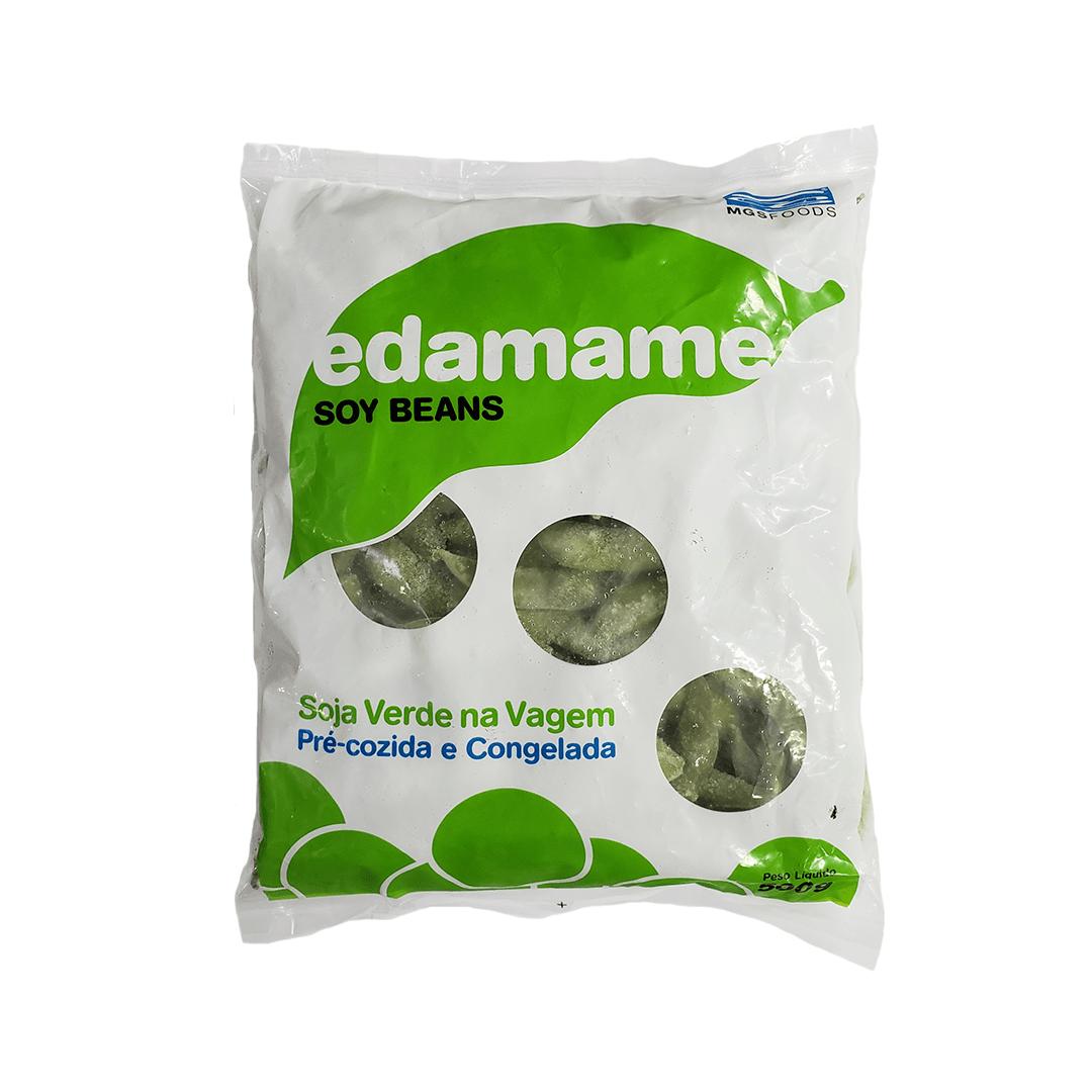 Soja Verde na Vagem Pré-cozida e Congelada Edamame MGSFOODS 500g