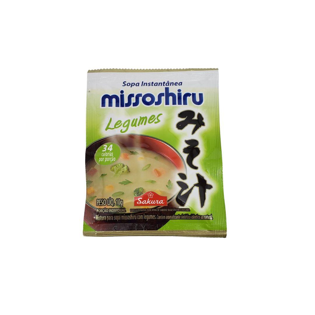 Sopa Missoshiru Instantâneo Legumes Sakura