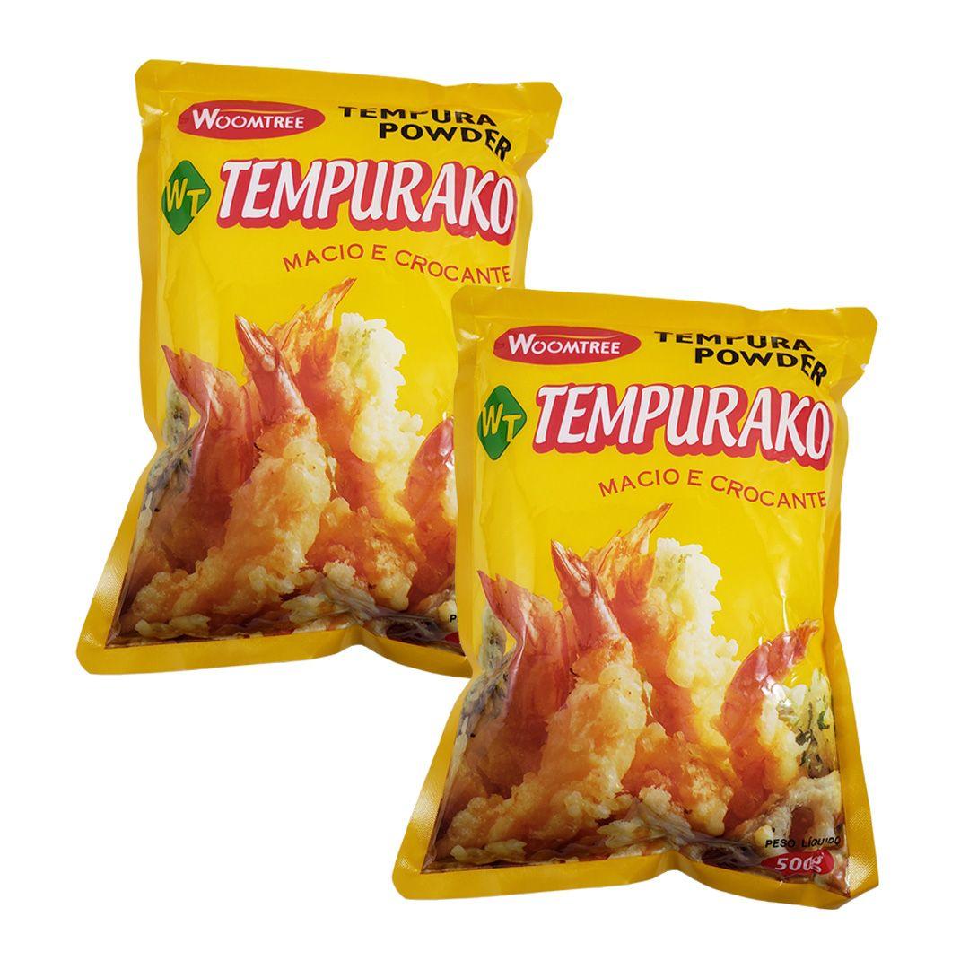 Tempurako Farinha Pronta para Tempura Woomtree 500g Kit 2 un