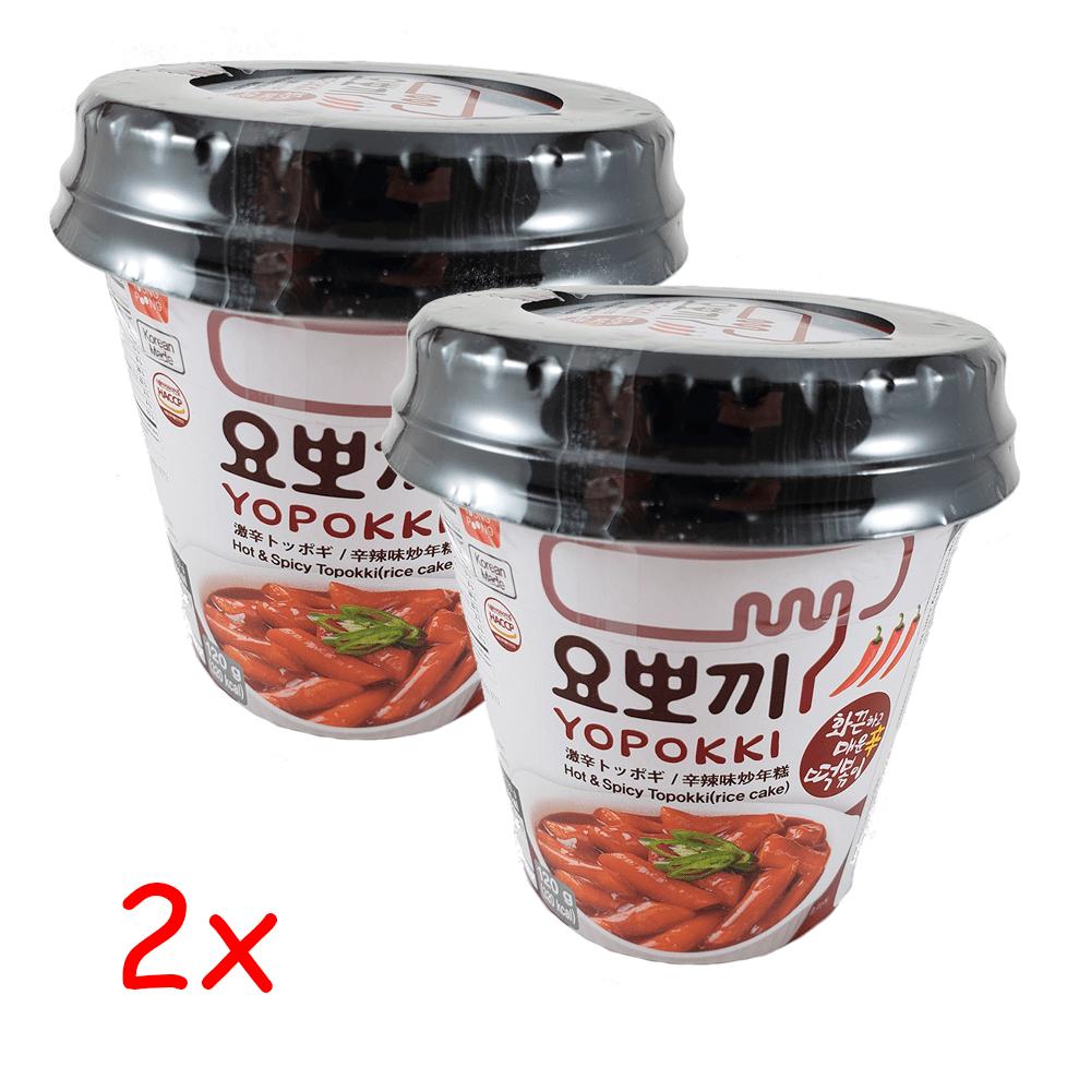 Topokki Bolinho de Arroz Coreano Hot & Spice Kit com 2