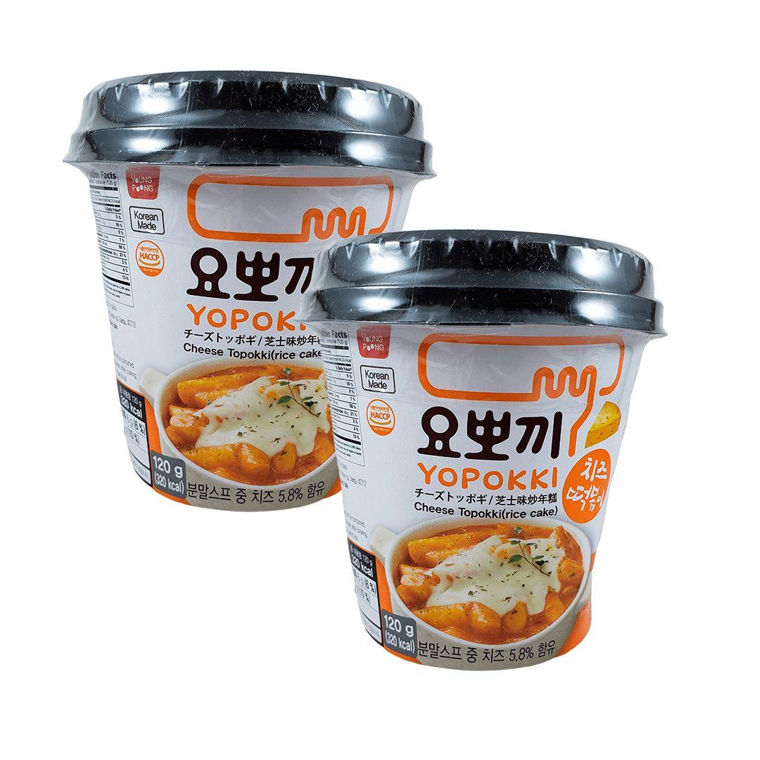 Topokki Bolinho de Arroz Coreano Queijo Cheese Kit com 2