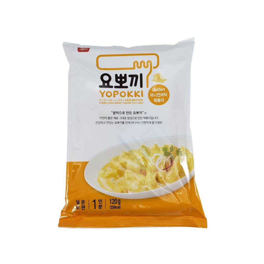 Topokki Bolinho de Arroz Coreano Yopokki Creme de Cebola 120g