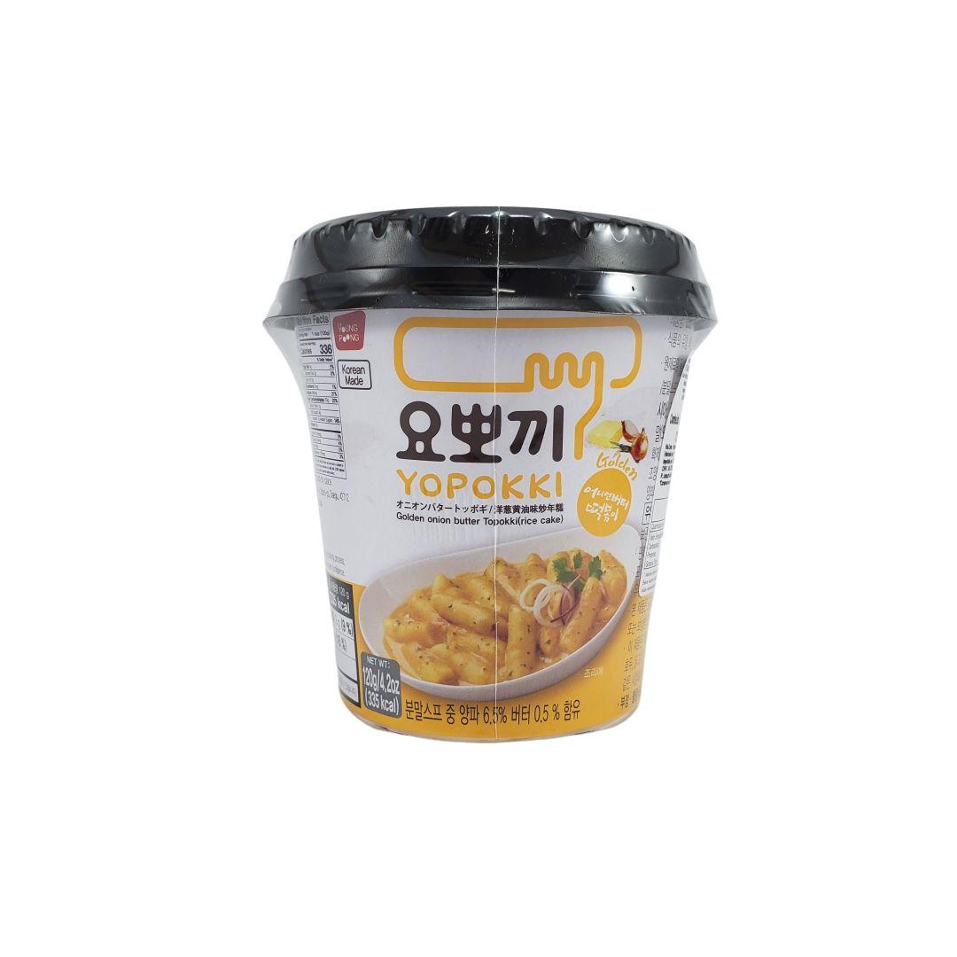 Topokki Bolinho de Arroz Coreano Yopokki Creme de Cebola Copo 120g
