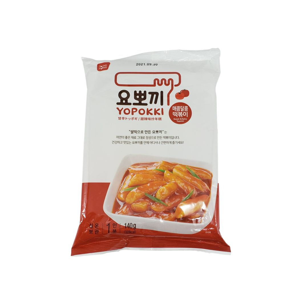 Topokki Bolinho de Arroz Coreano Yopokki Original Adocicado Sweet & Spicy 140g