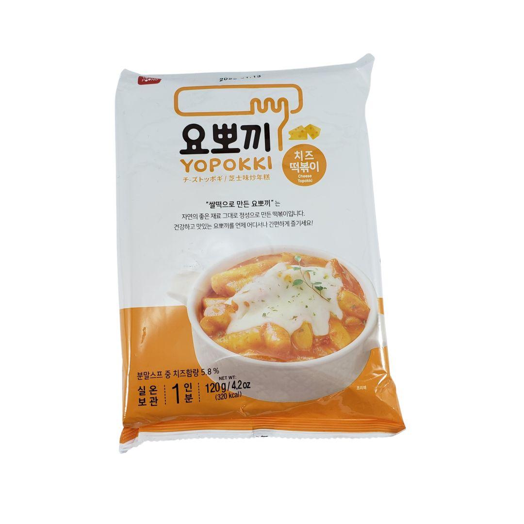 Topokki Bolinho de Arroz Coreano Yopokki Queijo Cheese 120g