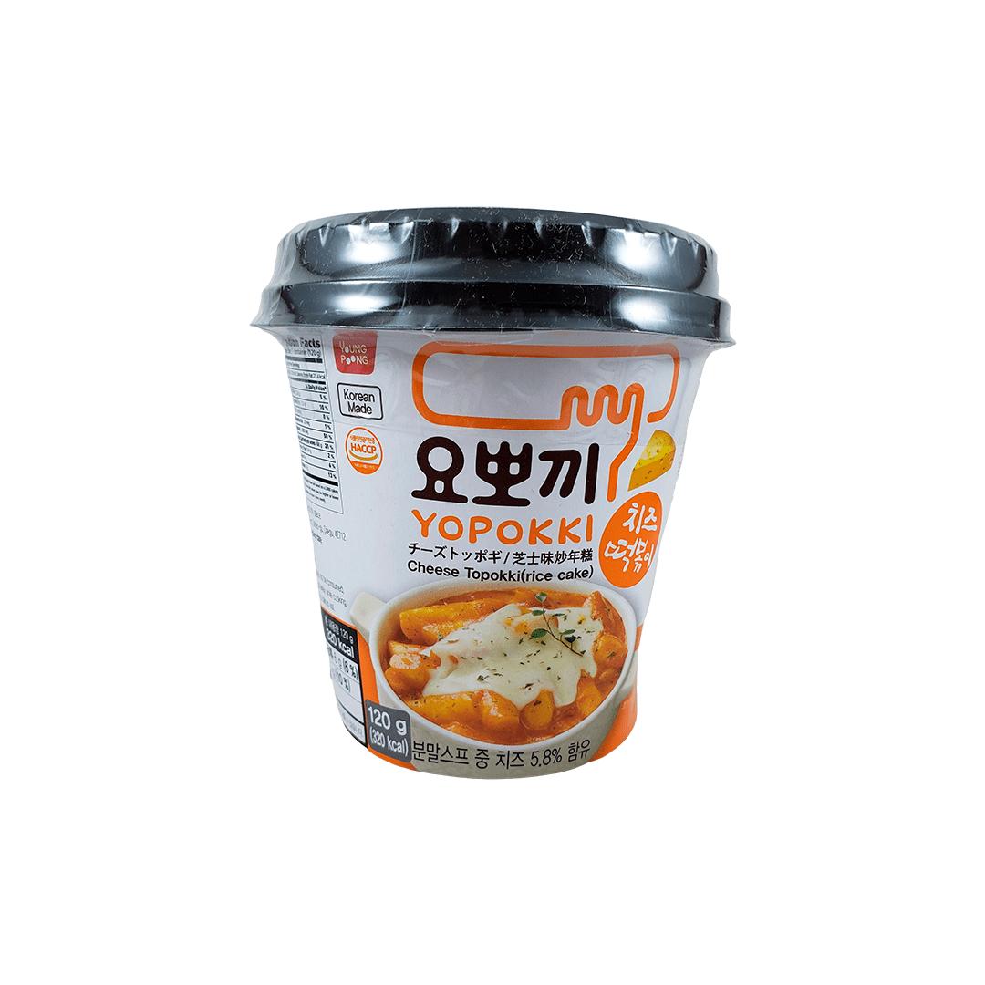 Topokki Bolinho de Arroz Coreano Yopokki Queijo Cheese Copo 120g