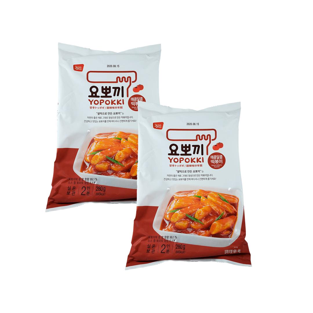 Topokki Original Adocicado Sweet & Spicy 280g 2 Unidades