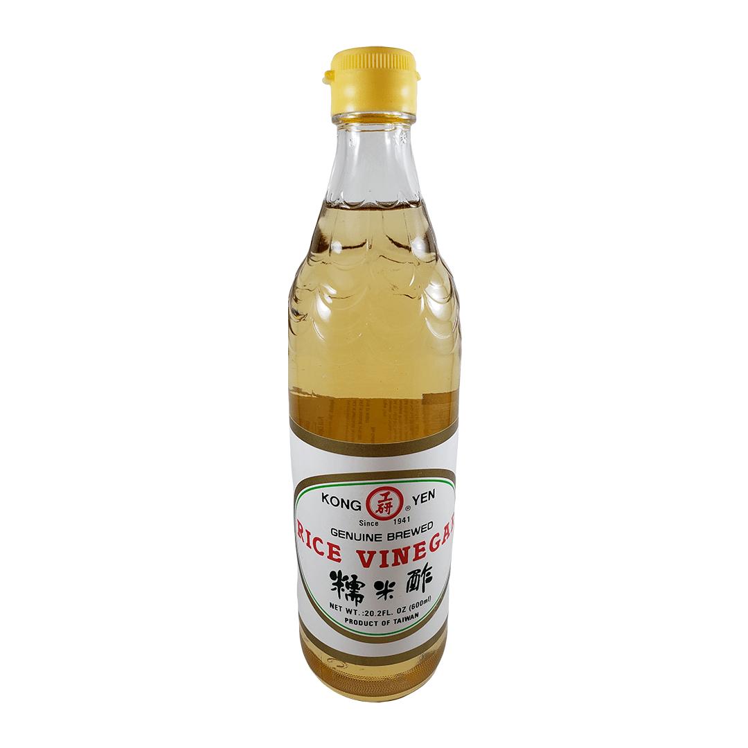 Vinagre de Arroz Glutinoso Motigome Kong Yen Branco 600ml