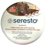 Coleira Antipulgas e Carrapatos Bayer Seresto para Cães acima de 8 Kg