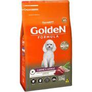 Ração Golden Formula Carne e Arroz para Cães Adultos de Raças Pequenas 3kg
