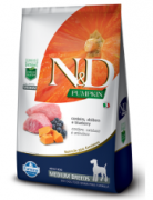 Ração N&D Pumpkin Cães Adulto Raças Médias Cordeiro 10,1kg