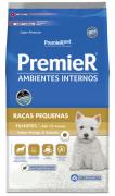 Ração Premier para Cães Filhotes de Raças Pequenas Ambientes Internos Sabor Frango e Salmão