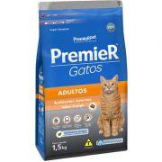 Ração Premier Pet Gatos Ambientes Internos Adultos Frango 1,5kg