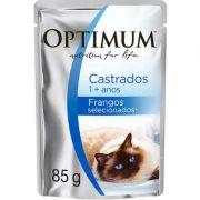 Ração Úmida Optimum Sachê para Gatos Adultos Castrados Frango