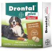 Vermífugo Drontal Plus Sabor Carne Bayer com 2 comprimidos - 35kg