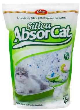 Areia Higiênica Silica Absorcat para Gato