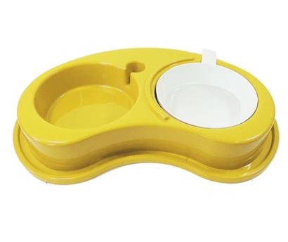 Comedouro Furacão Pet de Plástico Antiformiga Luxo Dupl