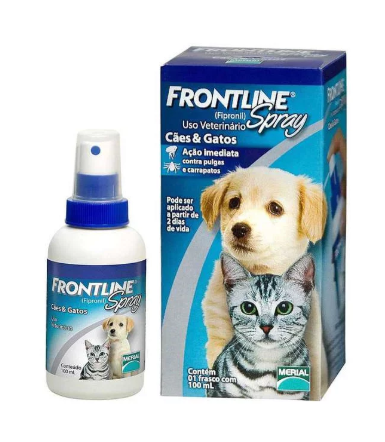 Frontline Spray Antipulgas E Carrapatos Cães E Gatos 100ml
