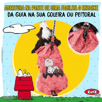 Moletom Zooz Pets Charlie Snoopy Sleeping Vermelha