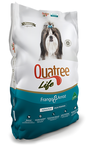 Quatree Life Raças Pequenas Frango e Arroz 3kg