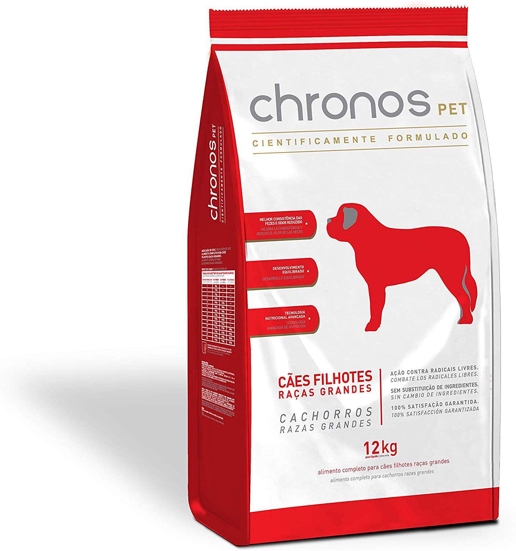 Ração Chronos Pet Cães Super Premium Filhotes Raças Grandes 12kg