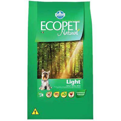 Ração Ecopet Natural Light para Cães Adultos com Tendência a Obesidade de Raças Pequenas 3kg
