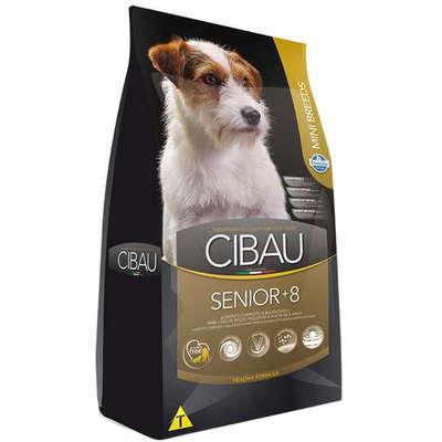 Ração Cibau Senior +8 para Cães de Raças Pequenas com 8 Anos ou Mais de Idade