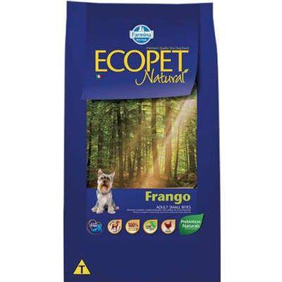 Ração Ecopet Natural Frango para Cães Adultos de Raças Pequenas