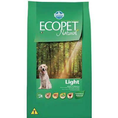 Ração Ecopet Natural Light para Cães Adultos de Raças Médias e Grandes 15kg
